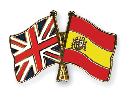 Image result for spanish and uk flag